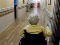 Nursing Home Patient in Wheel Chair