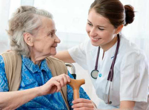 Elderly Patient with Nurse