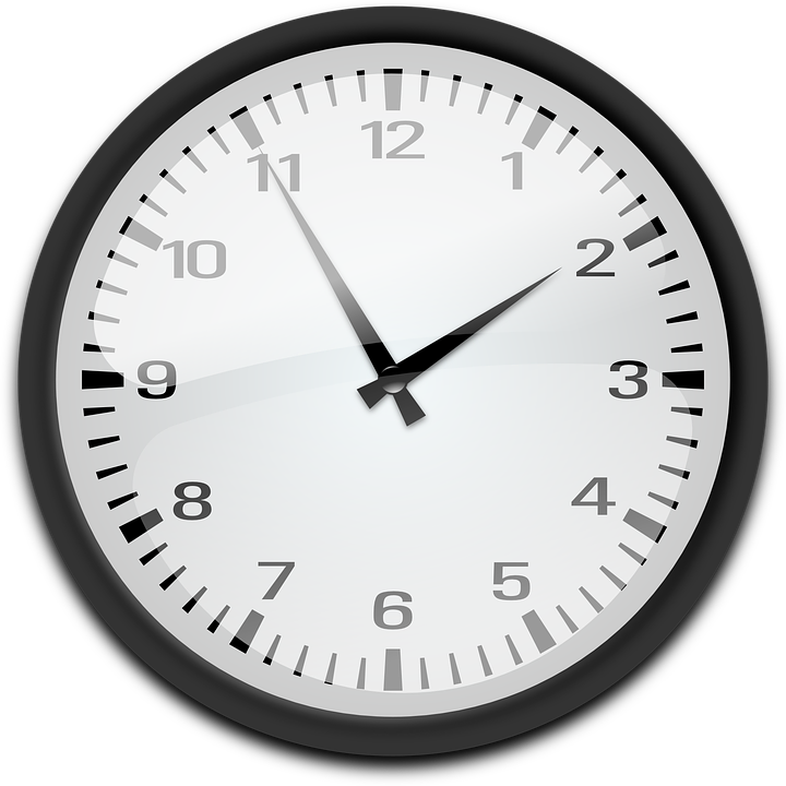 clock representing how long it takes to probate a will