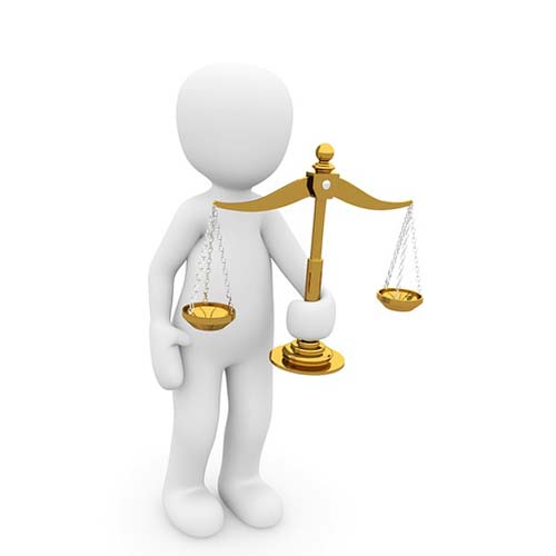 illustrated character holding legal scale to symbolize probate lawyers
