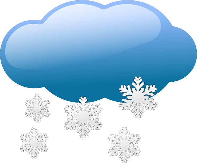 illustration of clouds and snow